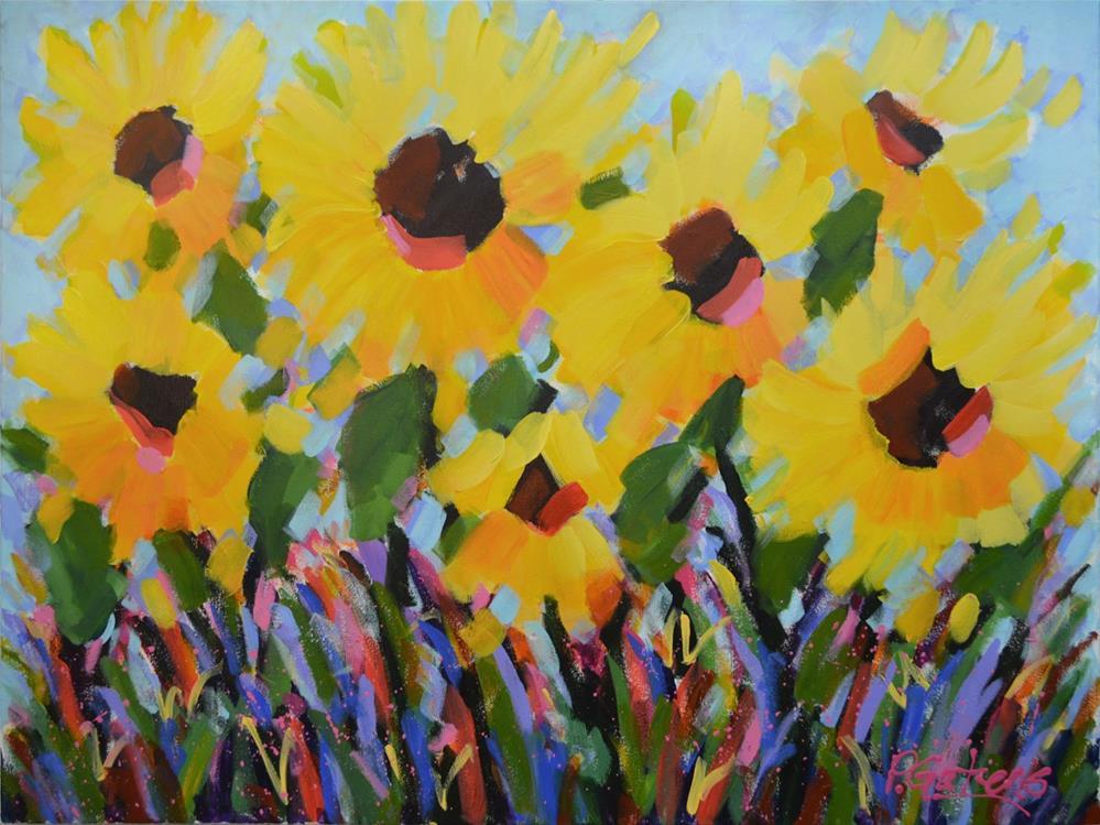 """Sunflowers for Michelle"" original fine art by Pamela Gatens"