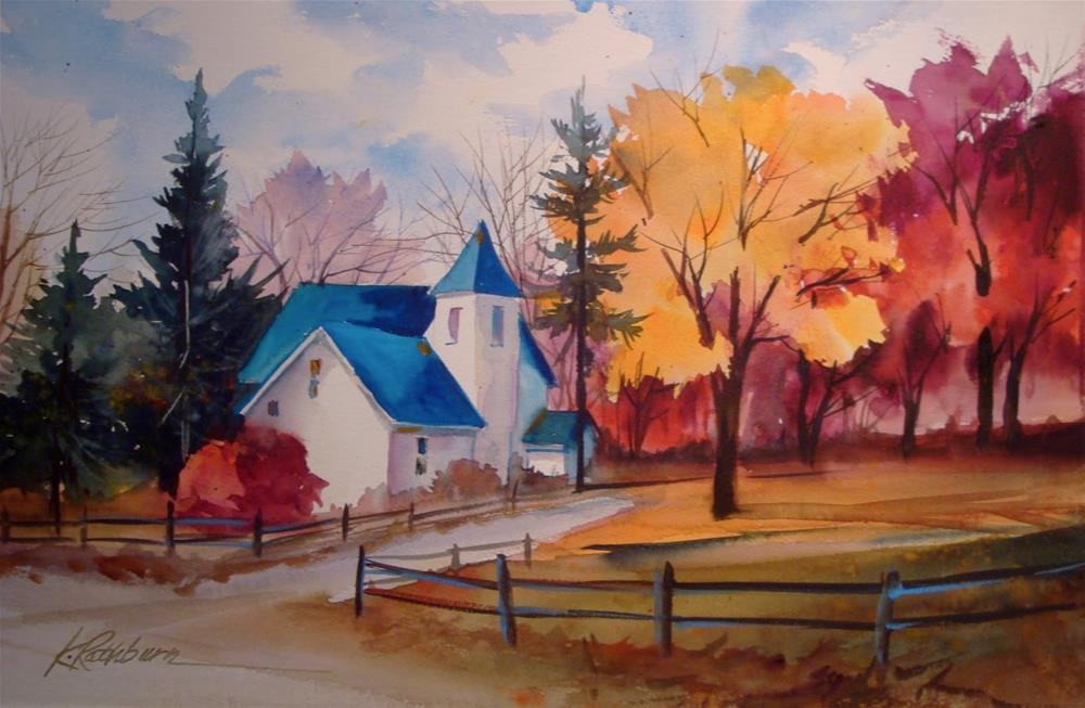 """More Fall at Deep River"" original fine art by Kathy Los-Rathburn"