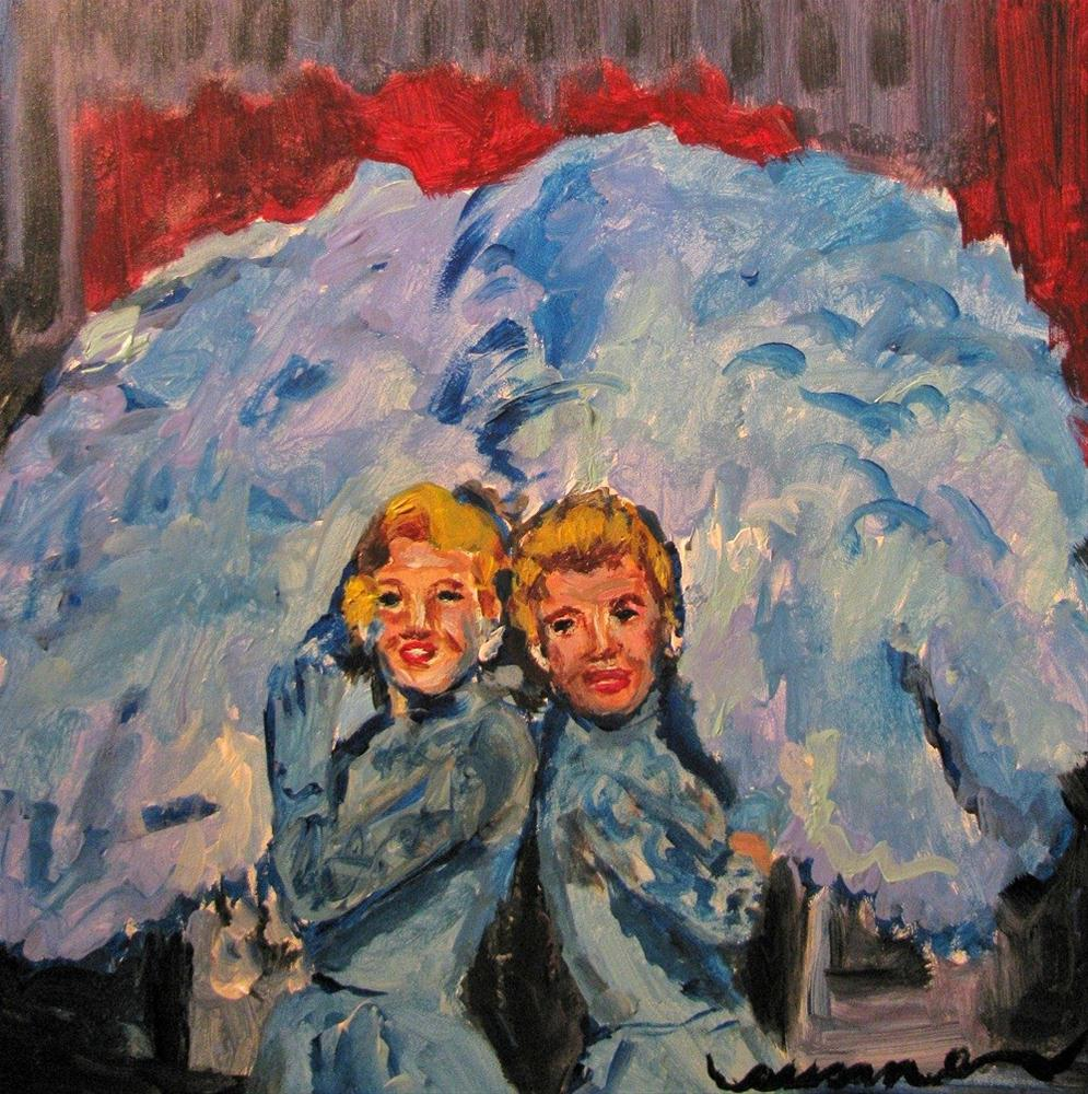 """Sisters Sisters"" original fine art by Susan Elizabeth Jones"