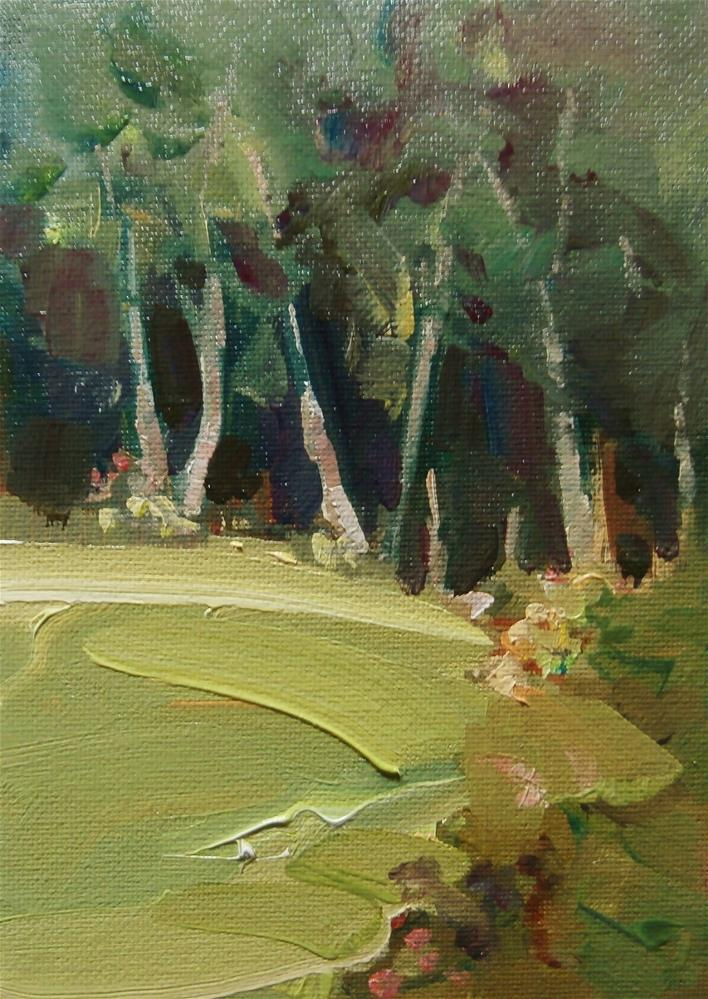 """Birch Garden"" original fine art by Anne Wood"