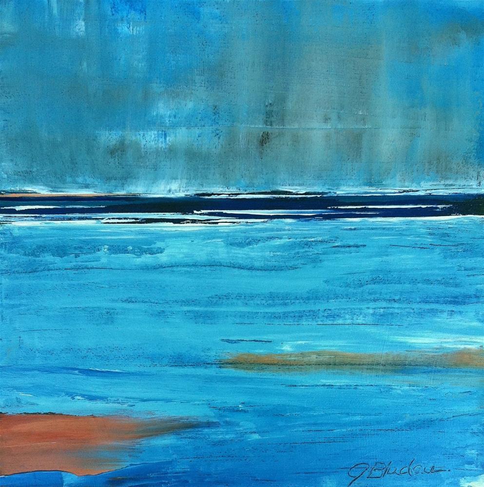"""Island Rain Storm"" original fine art by Janet Bludau"