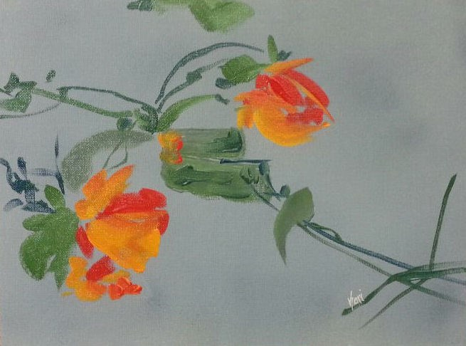 """""""Orange Beauty"""" original fine art by Kari Melen"""