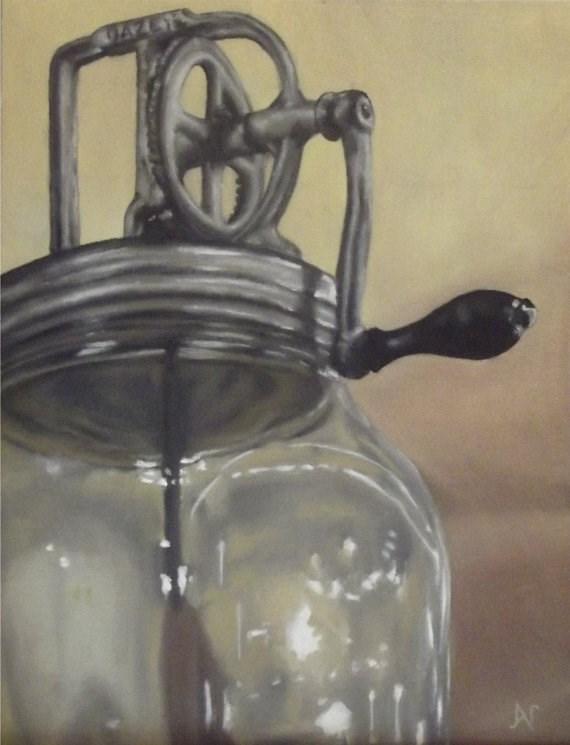 """""""Dazey Butter Churn"""" original fine art by Amy VanGaasbeck"""