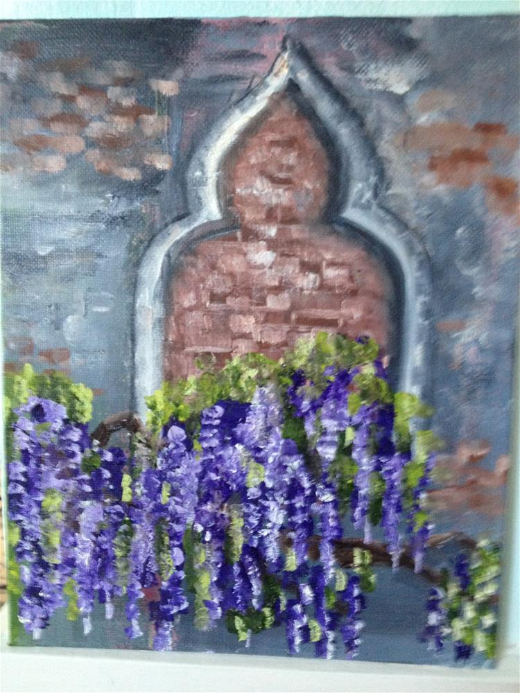 """wisteria"" original fine art by Debra Soffee"