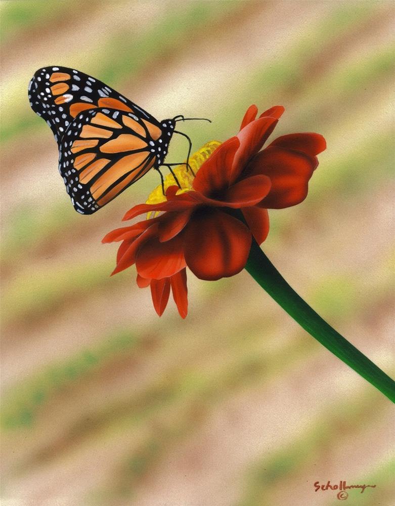 """Springtime Brunch"" original fine art by Fred Schollmeyer"