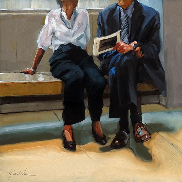"""Get With The Program"" original fine art by Karin Jurick"
