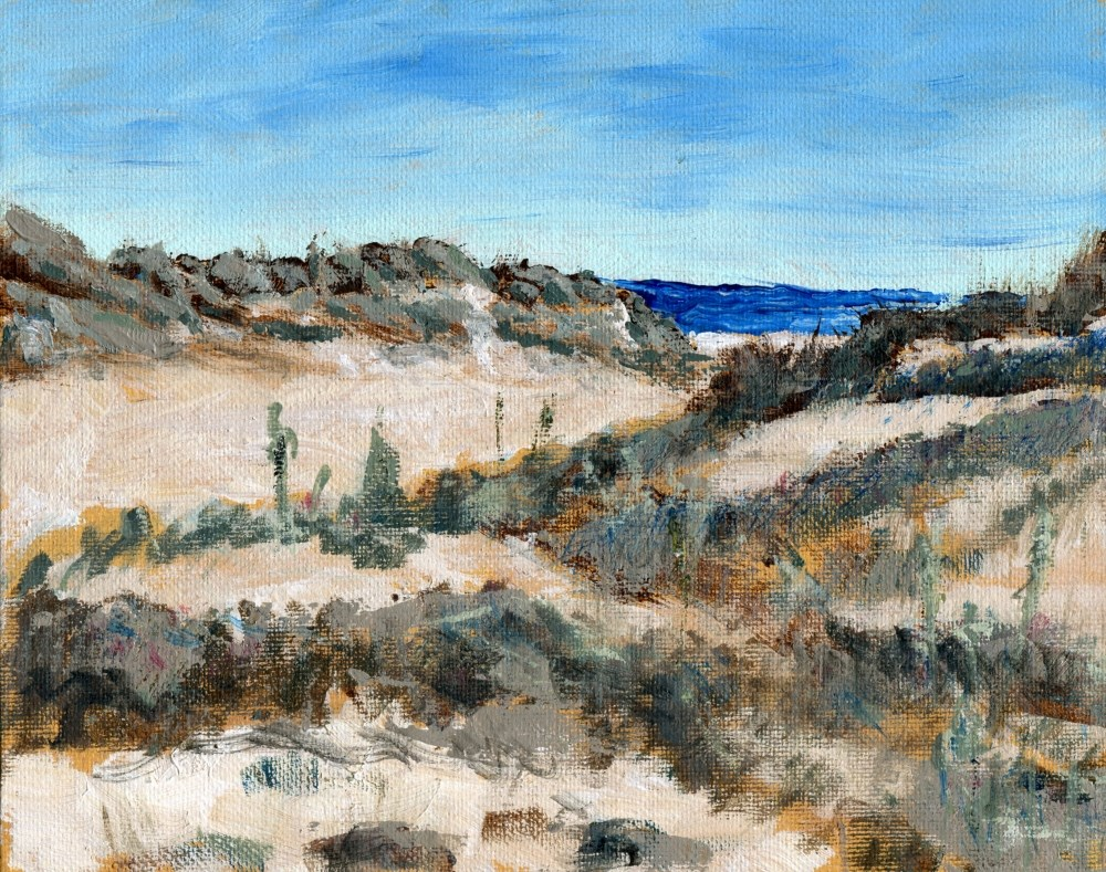 """Sand Dunes and Grass"" original fine art by Stanley Epperson"