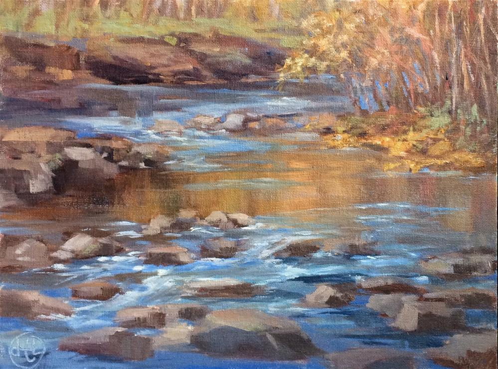"""sugar creek"" original fine art by Dottie  T  Leatherwood"