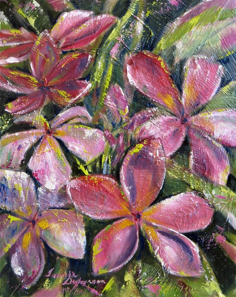 """Tropical Blooms"" original fine art by Tammie Dickerson"