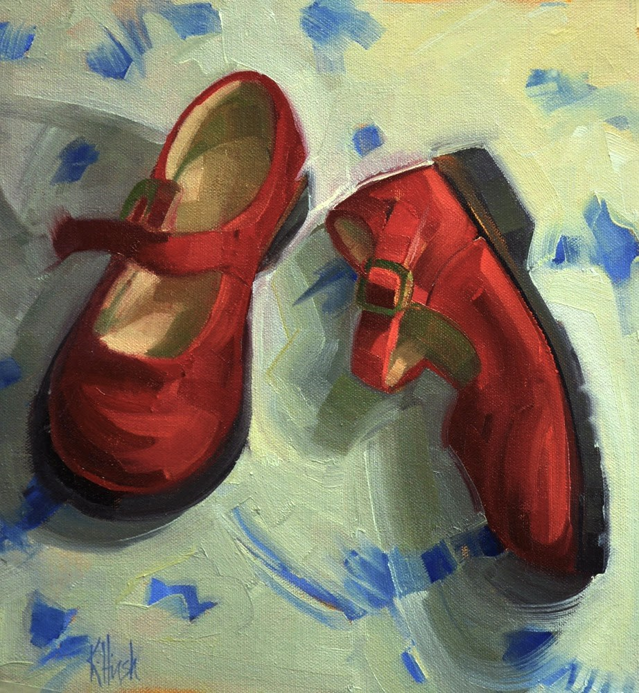 """Red Shoes 2"" original fine art by kathy hirsh"