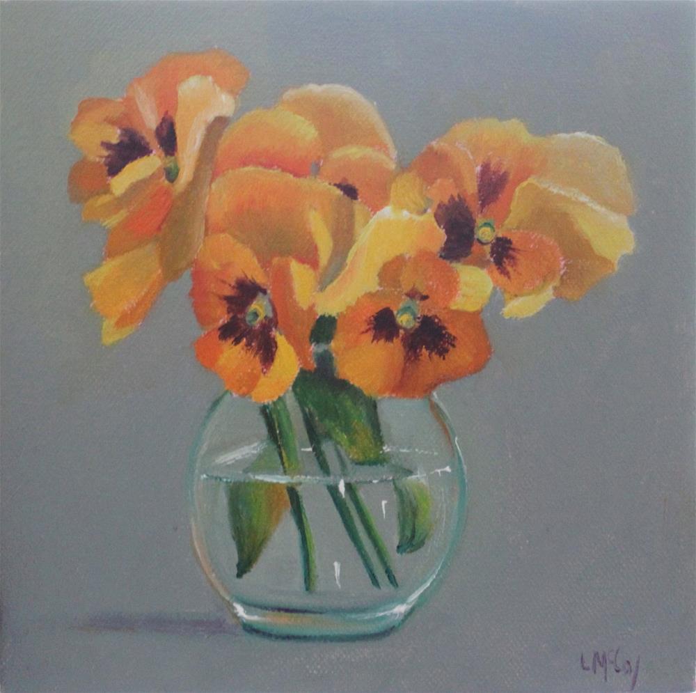 """Pansy"" original fine art by Linda McCoy"