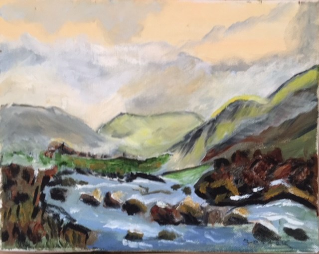 """Irish countryside"" original fine art by Sheila Clark Lundy"