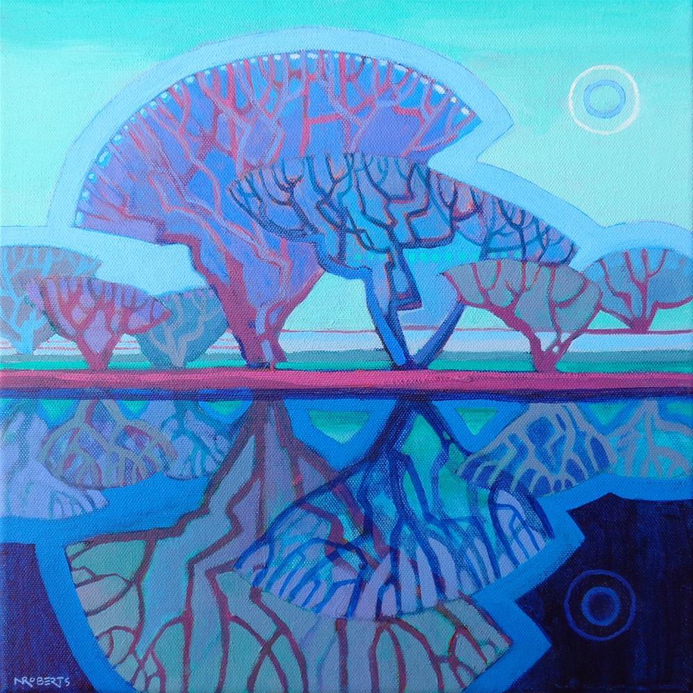 """Moonlight Sonata"" original fine art by Nancy Roberts"