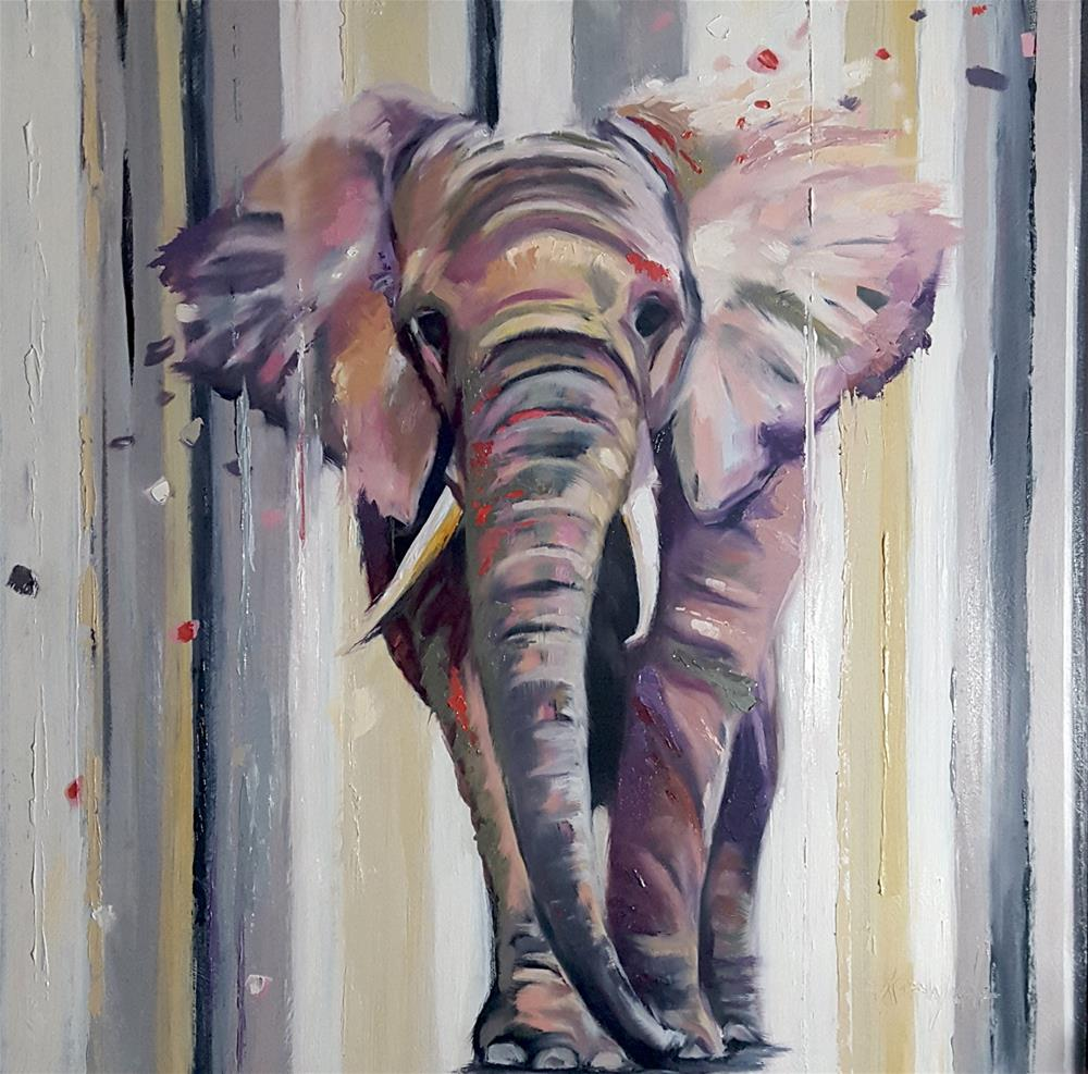 """Where Elephants Walk"" original fine art by Karen Weber"