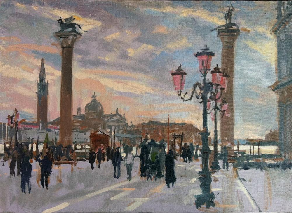 """Piazzetta, Venice"" original fine art by Haidee-Jo Summers"