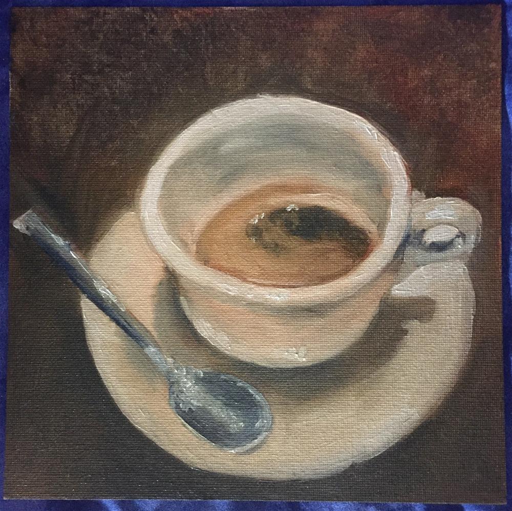 """Perfect Crema"" original fine art by Julie Ratcliff"