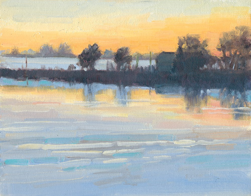 """""""Cold Morning"""" original fine art by Kath Reilly"""