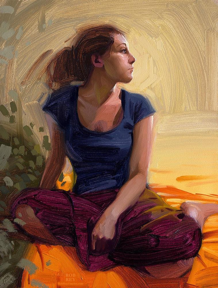 """Facing the Light"" original fine art by Rob  Rey"