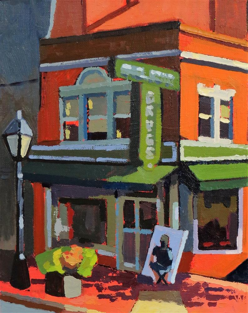 """Goolrick's Drugstore"" original fine art by Joan Wiberg"
