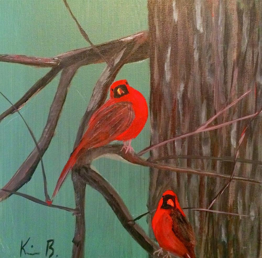 """The Cardinals"" original fine art by Kimberly Balentine"