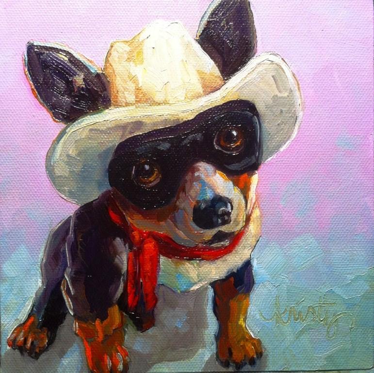 """THE BONE RANGER"" original fine art by Kristy Tracy"