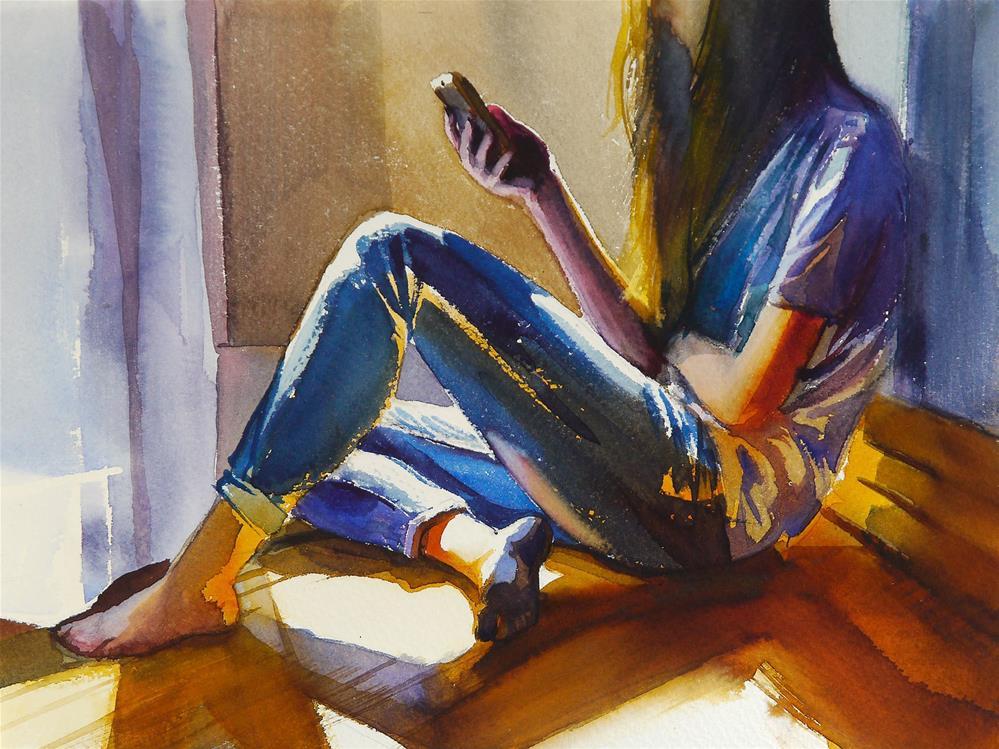 """lose head"" original fine art by Beata Musial-Tomaszewska"