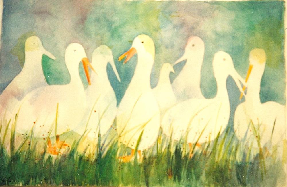 """pellcan parlay"" original fine art by meribeth coyne"