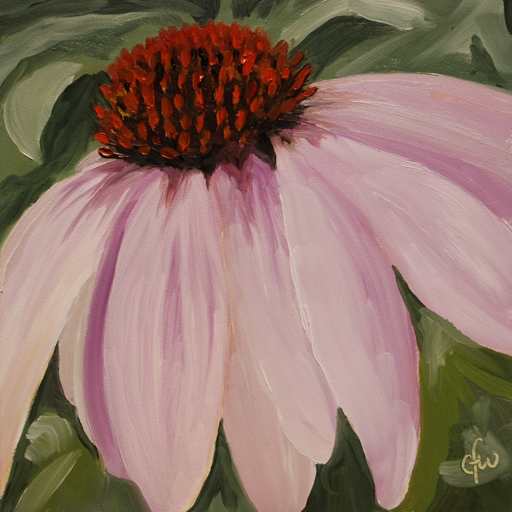 """Purple Coneflower"" original fine art by Gary Westlake"