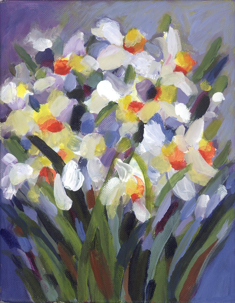 """Dafodillia"" original fine art by Pamela Gatens"
