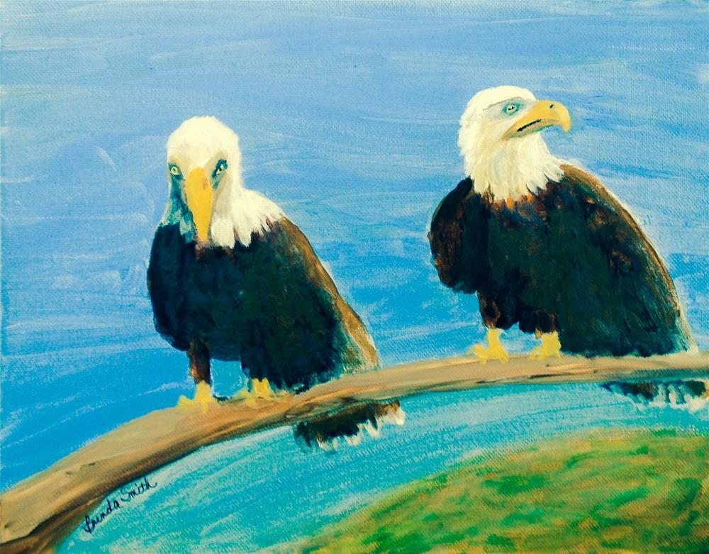 """Bald Eagles"" original fine art by Brenda Smith"