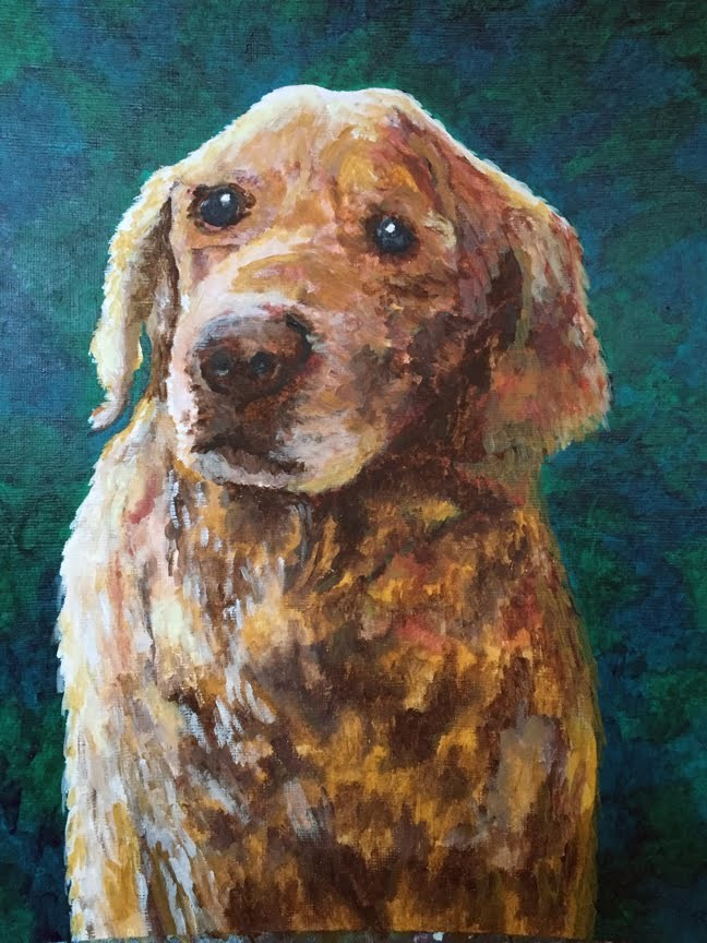 """Sarge"" original fine art by Nan Johnson"