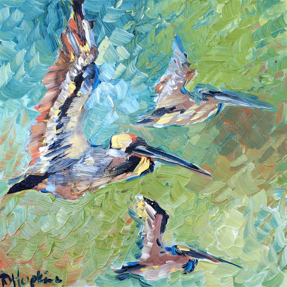 """pelican pod"" original fine art by Denise Hopkins"