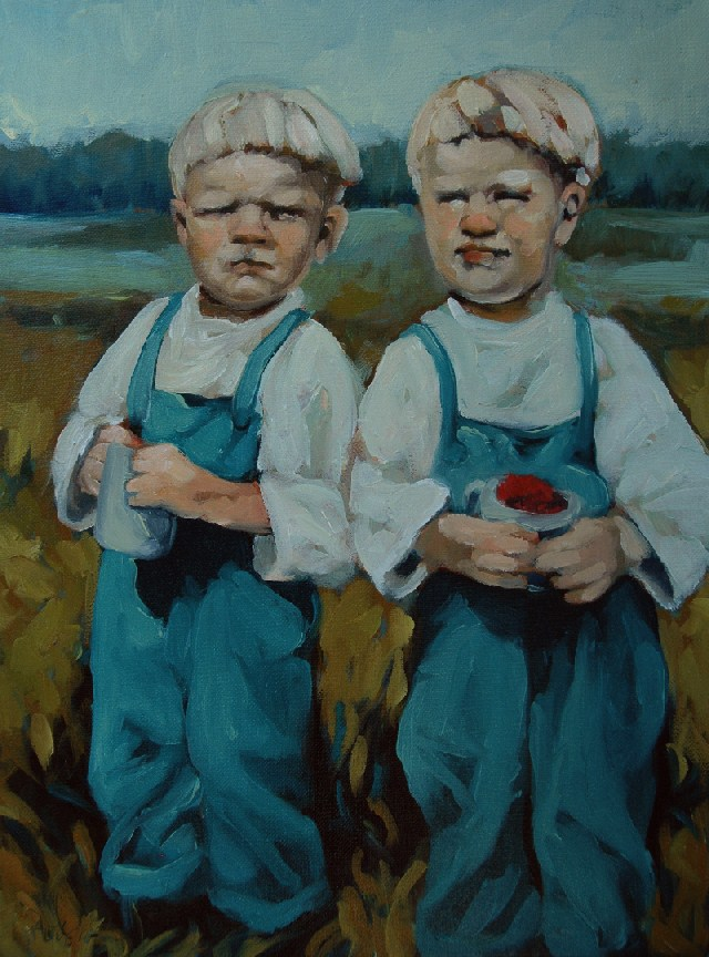 """Berry Boys"" original fine art by Kayleen Horsma"