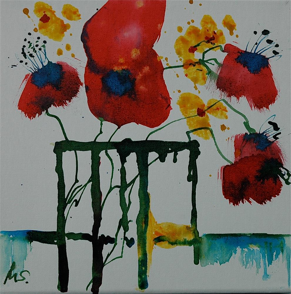 """Big red flower"" original fine art by Ulrike Schmidt"