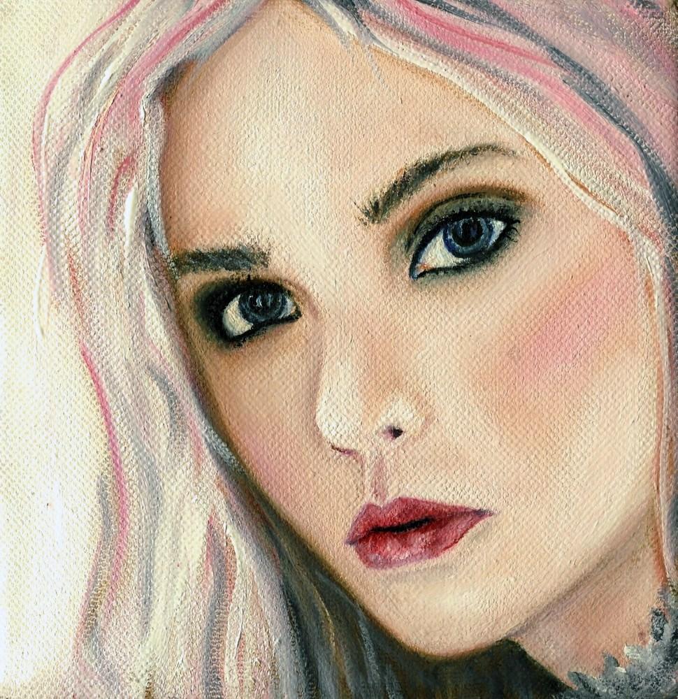 White Rabbit original fine art by Sunny Avocado