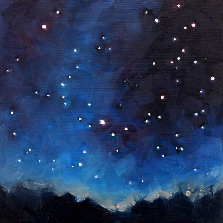 """""""Dogstar"""" original fine art by Deb Anderson"""