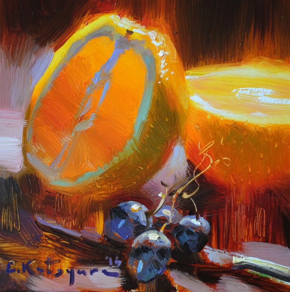 """""""October Orange"""" original fine art by Elena Katsyura"""