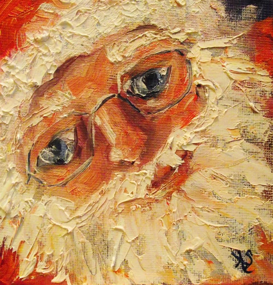 """Moustache"" original fine art by Angela Sullivan"