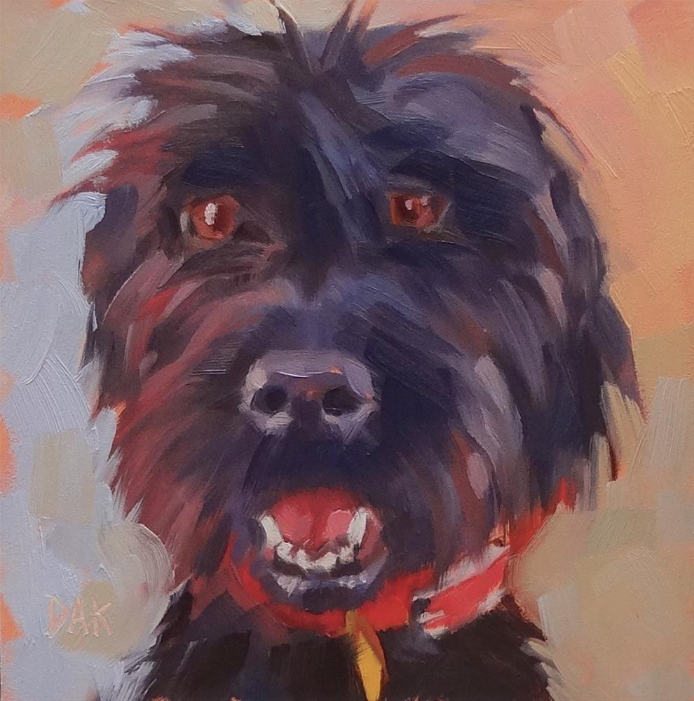 """""""Cartoon Dog"""" original fine art by Deborah Ann Kirkeeide"""