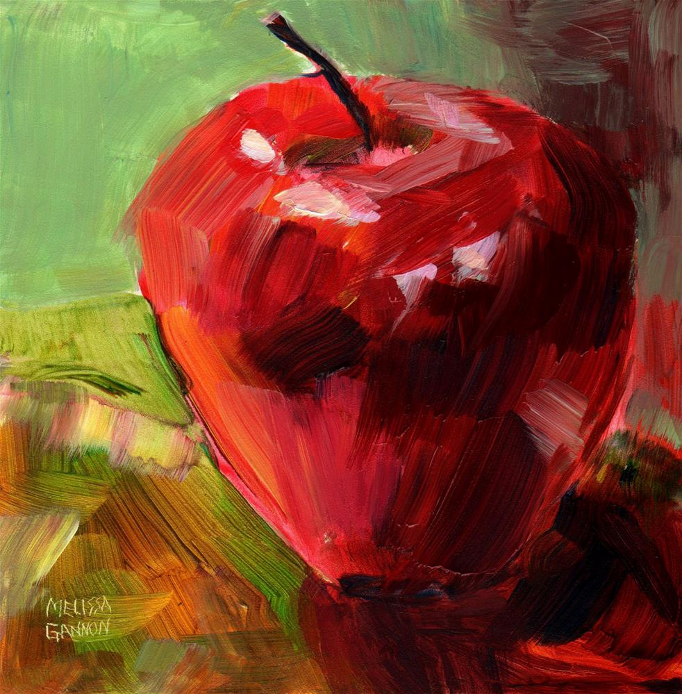 """Apple Elegance"" original fine art by Melissa Gannon"