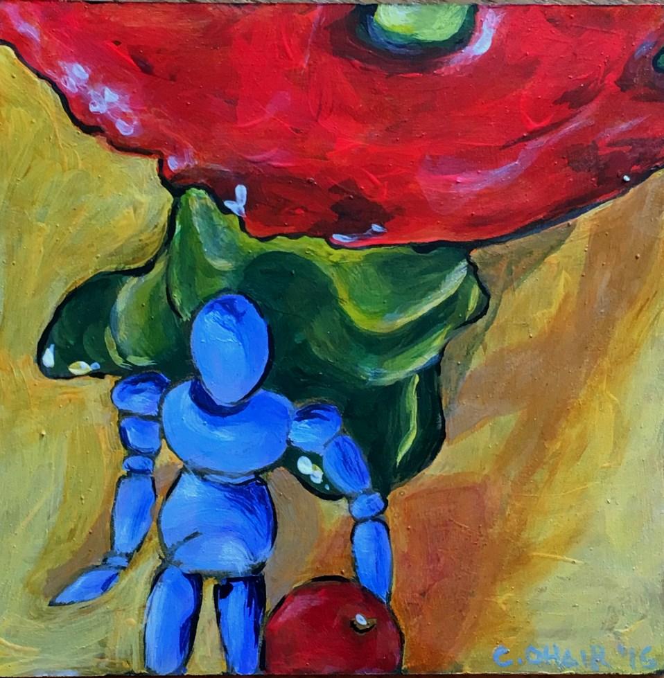 """Mushroom model"" original fine art by Colleen OHair"