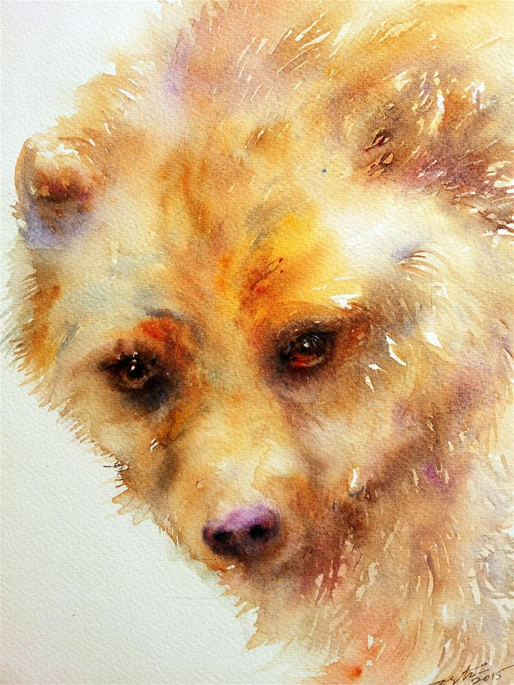 """Golden Bear"" original fine art by Arti Chauhan"