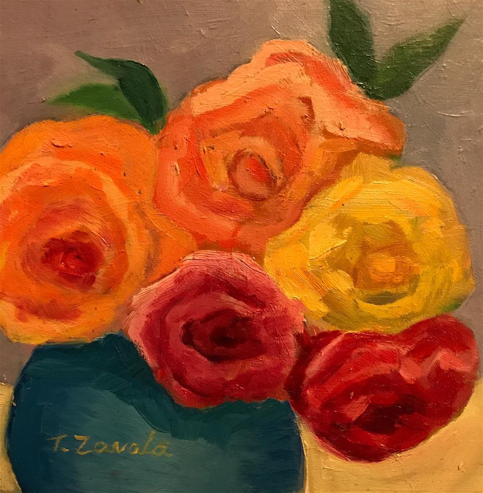 """Roses"" original fine art by Theodora Zavala"