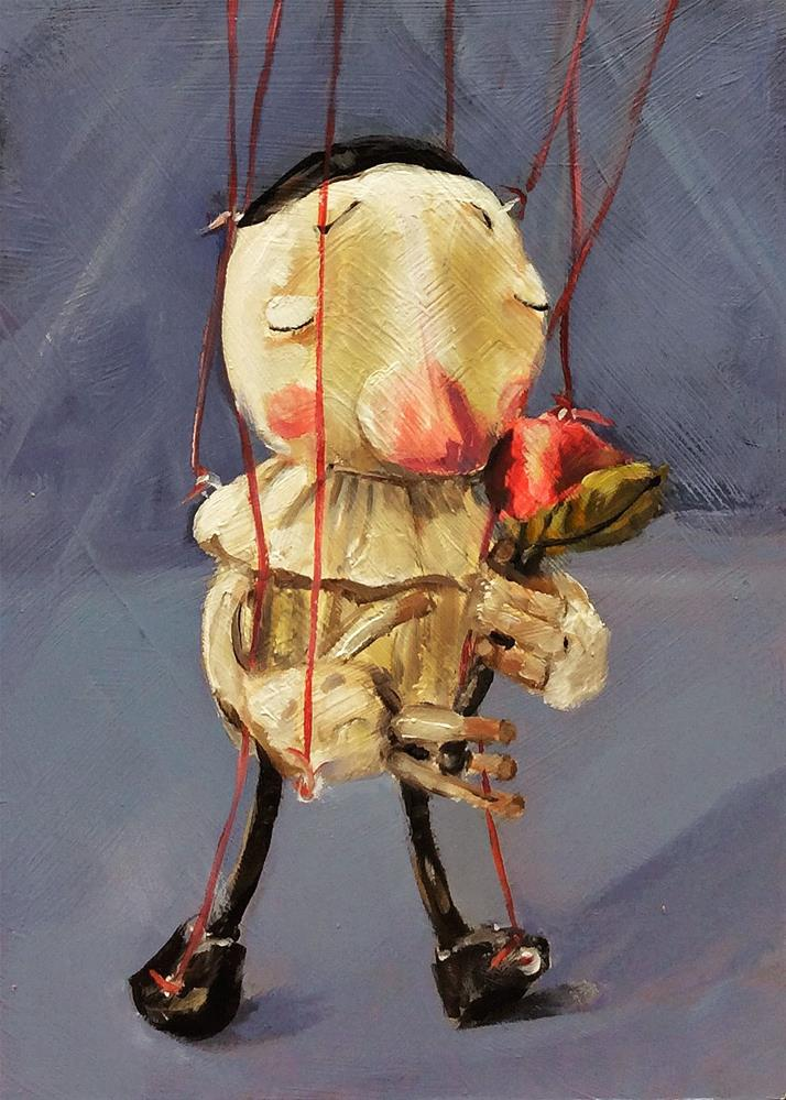 """sakuma sota marionetter rose"" original fine art by Sunny Avocado"