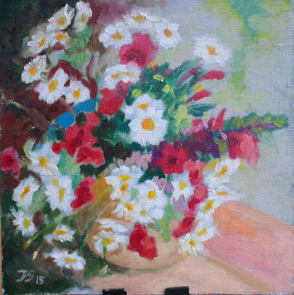 """""""summer flowers"""" original fine art by Yuriy Semyonov"""