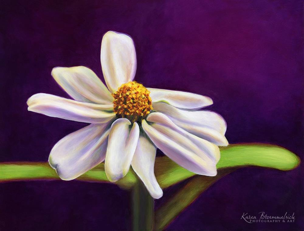 """""""Flower"""" original fine art by Karen Broemmelsick"""