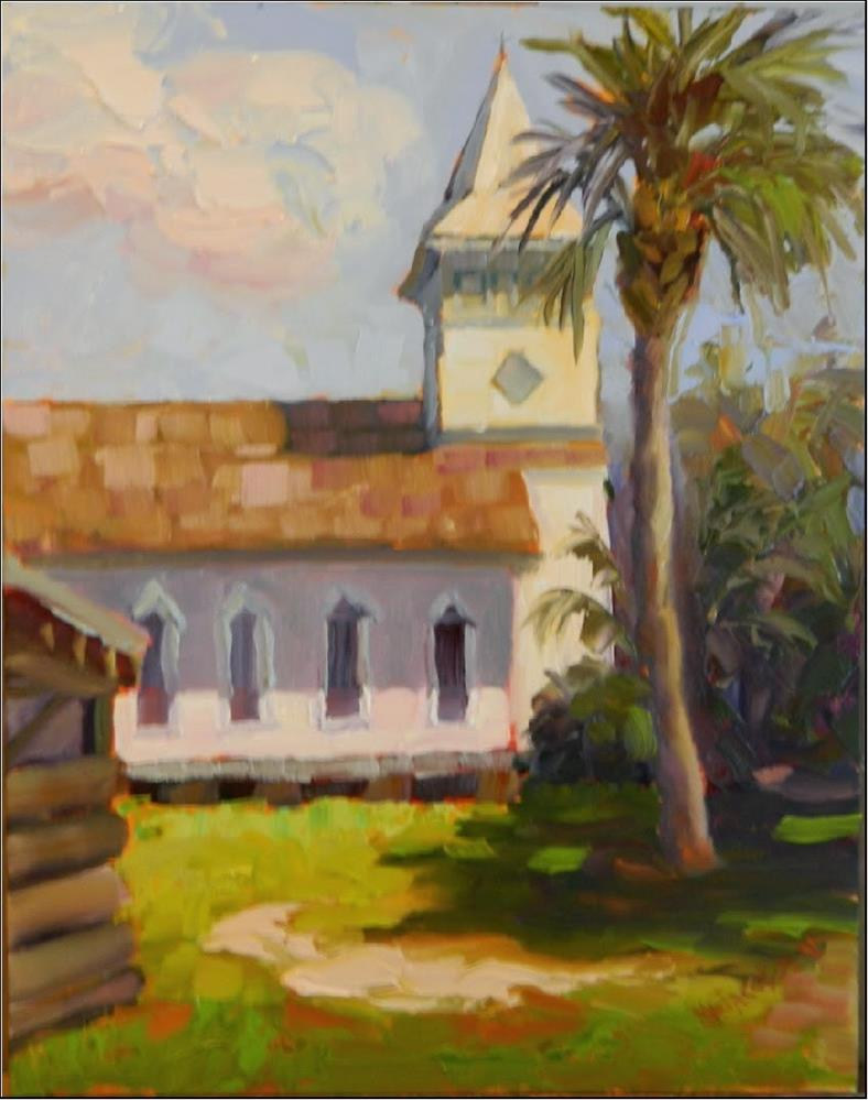 """1887 Church, plein air, 11x14, Paint the Town, Manatee Village, Bradenton Florida, historic buildi"" original fine art by Maryanne Jacobsen"