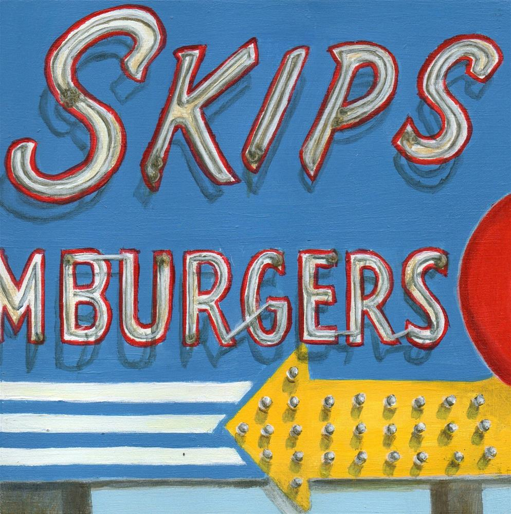 """Skips"" original fine art by Debbie Shirley"