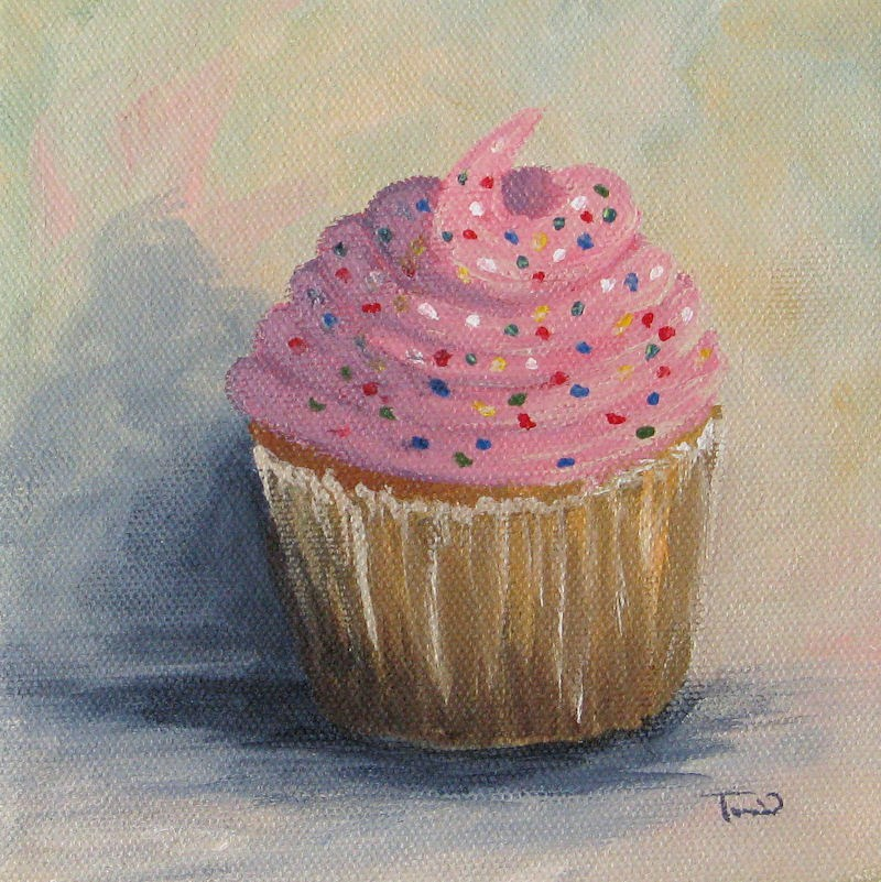 """Cupcake 004"" original fine art by Torrie Smiley"