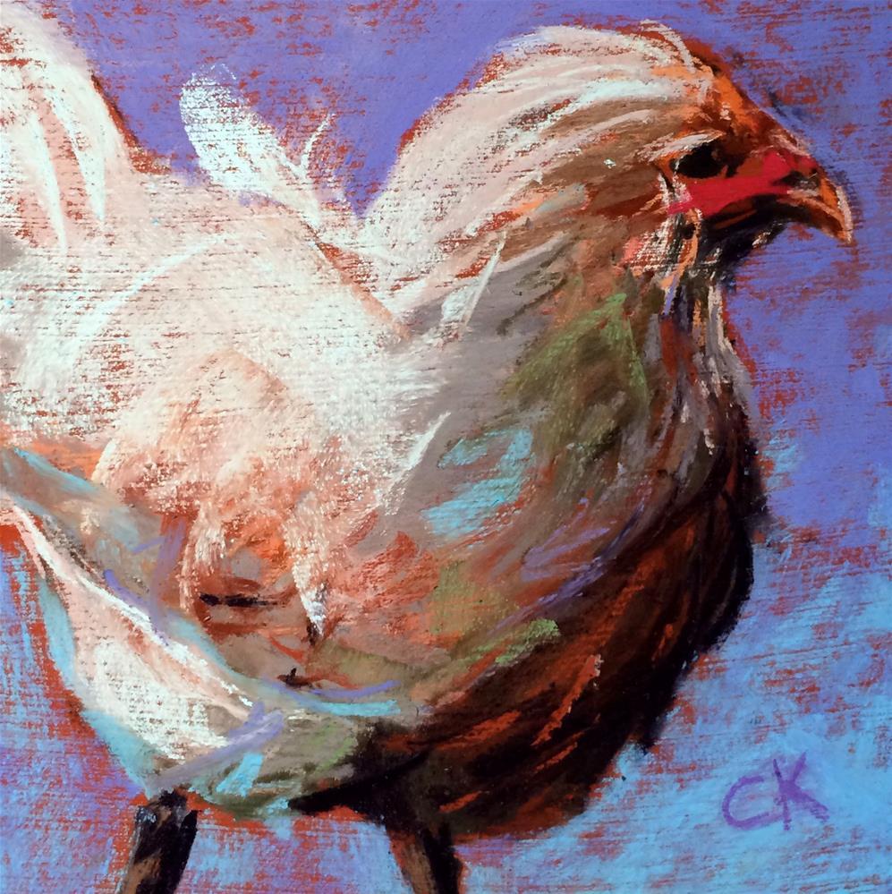"""""""Memorial Chicken"""" original fine art by Cristine Kossow"""
